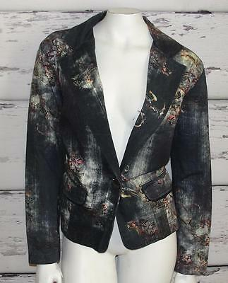 CHICO'S~MULTI-COLOR *ABSTRACT PRINT* ELEGANT~CASUAL COCKTAIL BLAZER COAT~2
