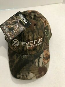 Details about Advantage Timber Camo Hunting Cap Hat Evonik Logo NWT