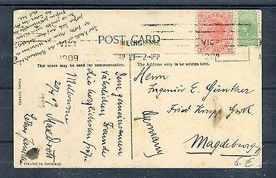 Australien Briefmarken B1040 Ein Kunststoffkoffer Ist FüR Die Sichere Lagerung Kompartimentiert Obligatorisch Australien One Penny Als Mischfrankatur Auf Ansichtskarte