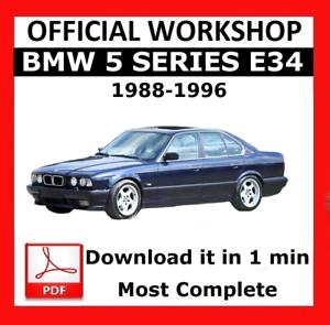 />/> OFFICIAL WORKSHOP Manual Service Repair BMW Series 5 E34 1988-1996
