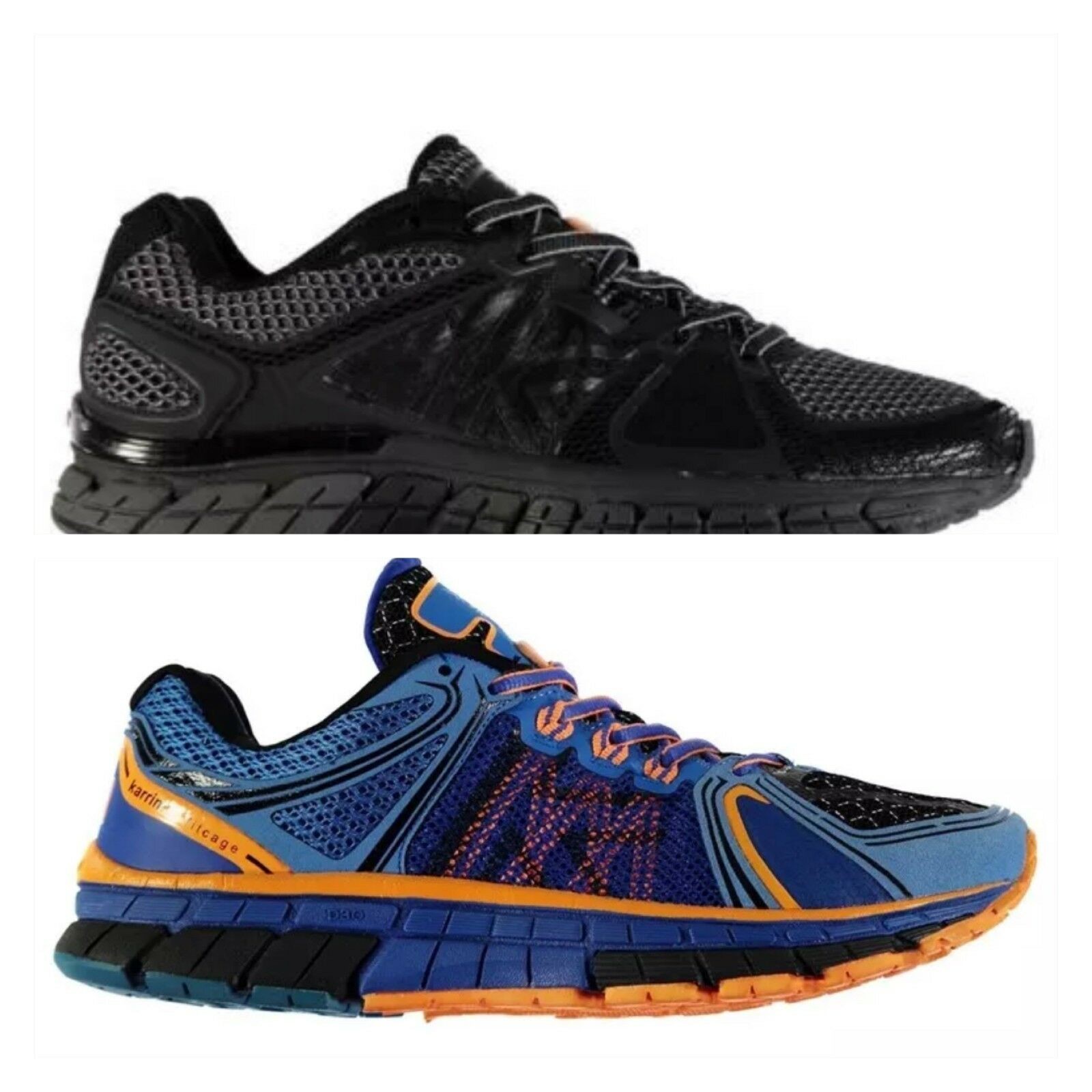 Mens Karrimor D30 Stability Running Shoes Black Silver Lace Up Trainers UK 6