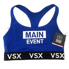 NEW Genuine VICTORIA'S SECRET VSX Blue Sports Bra Bralette Womens Size Medium