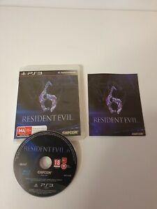 Resident Evil 6 w Manual - Playstation 3 PS3 Aus Seller - Track Post