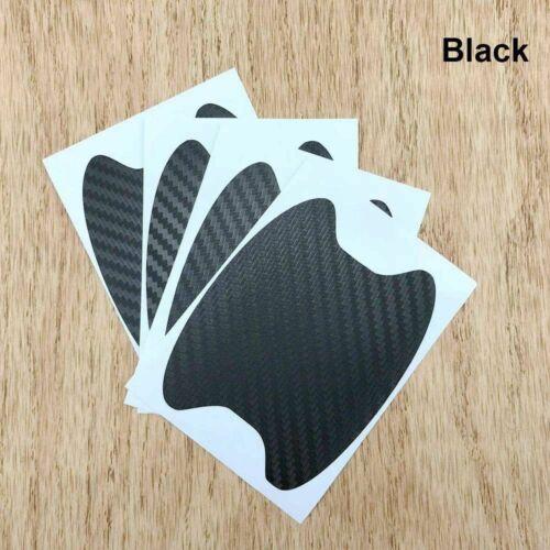 4pcs Carbon Fiber Style Car Door Handle Anti-Scratch Protective Film Stickers ff