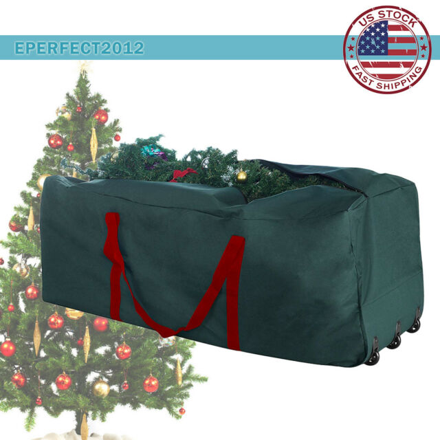 Christmas Tree Rolling Storage Bag.Christmas Tree Rolling Storage Bag Artificial Xmas Strong Box Container 9ft Tree