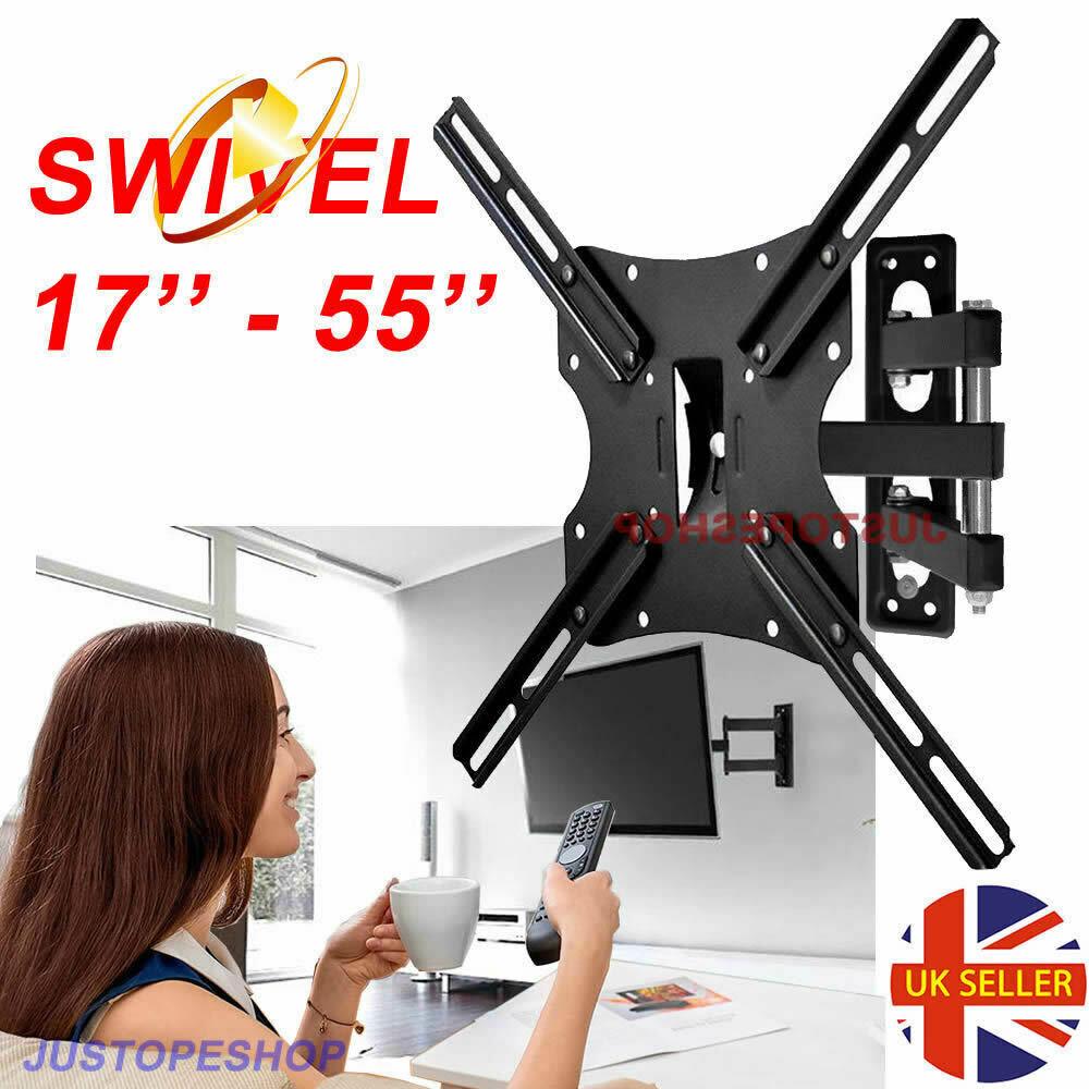 Swivel Arm Tilt Tv Wall Bracket Mount For 26 32 40 42 46 50 52 55 Inch Lcd Led 6102565442906 Ebay