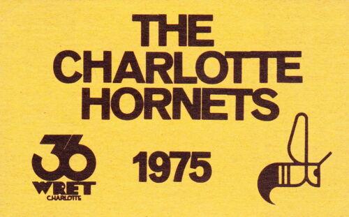1975 CHARLOTTE HORNETS WORLD FOOTBALL LEAGUE WFL POCKET SCHEDULE