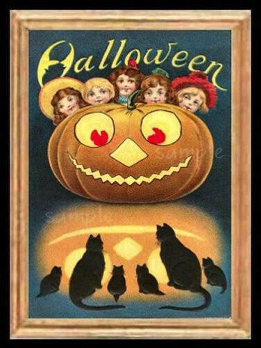 Halloween Children Miniature Dollhouse Picture