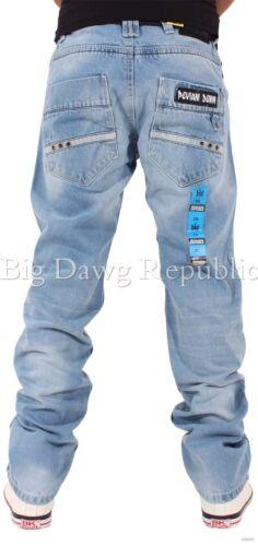 tempo è denaro G Hip Hop Star Peviani Uomo Jeans Firmati VOLE Blu Denim