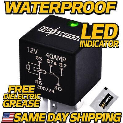 12V 40Amp Sealed WaterProof Relay replaces John Deere AR74411 w//LED Indicator