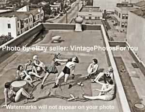 Details about Vintage/Early/Old 1900s Rooftop Sexy Woman/Women Boxing  Gloves Photo/Picture