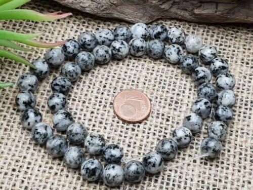 Naturel Dalmatiens Jasper quelque Balle Perles 8 mm Strang 38 cm chape