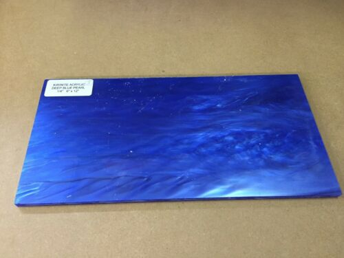 "cuchillo haciendo Kirinite Azul Profundo Perla 1//4/"" 6/"" X 12/"" hojas de para trabajar madera"