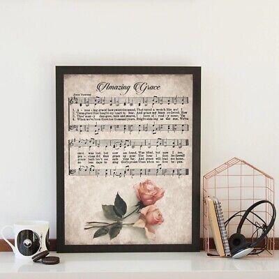 Blessed Assurance Vintage Hymn Wall Art Print Biblical Sheet Music Print Poster Wall Art Home Decor Large Wall Art Gicl\u00e9e Art Print