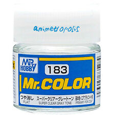 MR HOBBY Color C183 Flat Super Clear Gray Tone Primary Paint 10ml