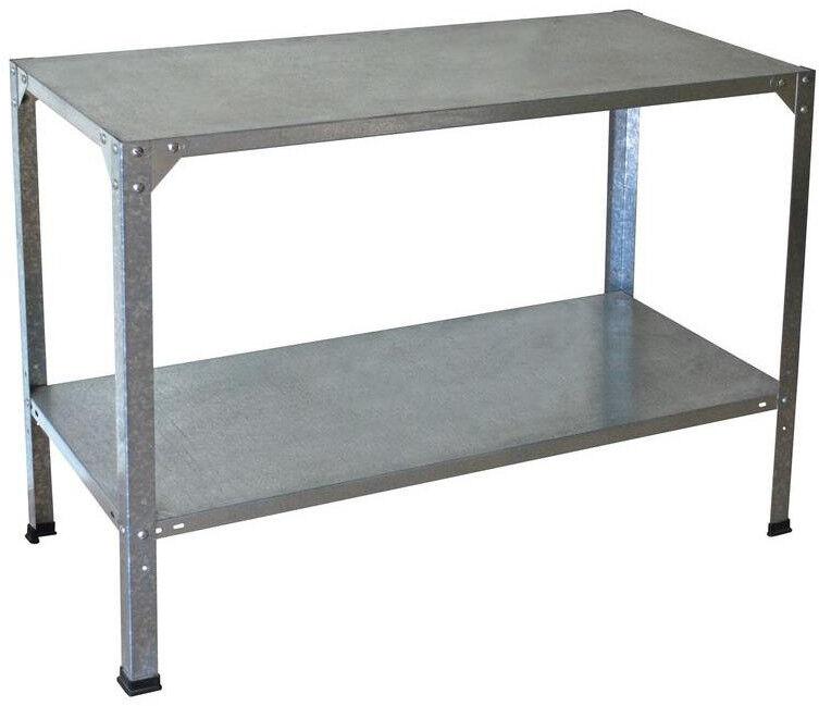 Steel Work Bench Bench Bench Workshop Table Garage Storage Heavy Workbench 20in x 45in x31in 245684