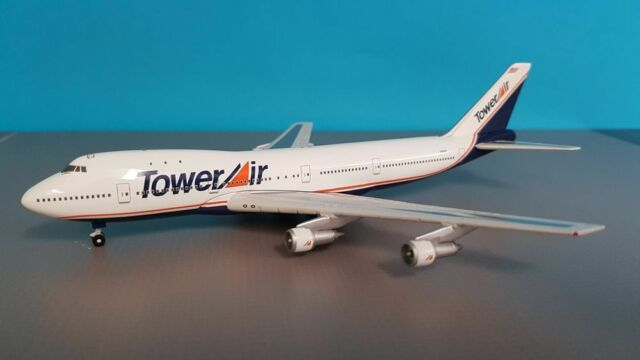 Gemini Jets GJTOW057 Tower Air Boeing 747-136 N606FF Diecast 1/400 Model Plane