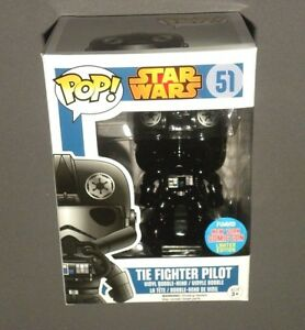 Pop Nycc Chrome Tie Fighter Pilot Vinyl Bobble Head