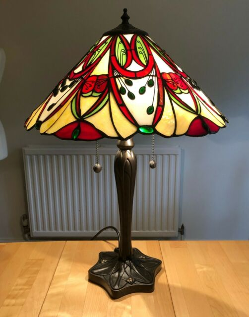 Tiffany Style Medium Table Lamp - 'Lyon' by Interiors 1900 - Brand New