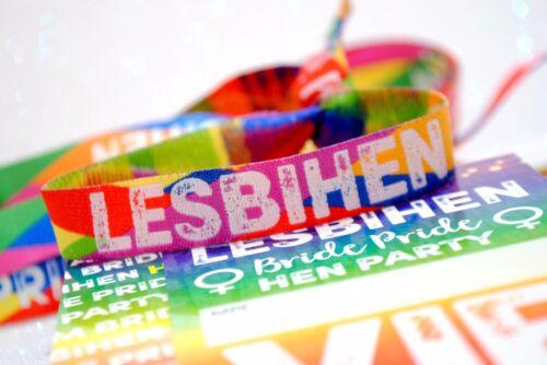 LESBIHEN Hen Party VIP Pass Lanyards Bride Pride Lesbian Gay Hen Do Favours