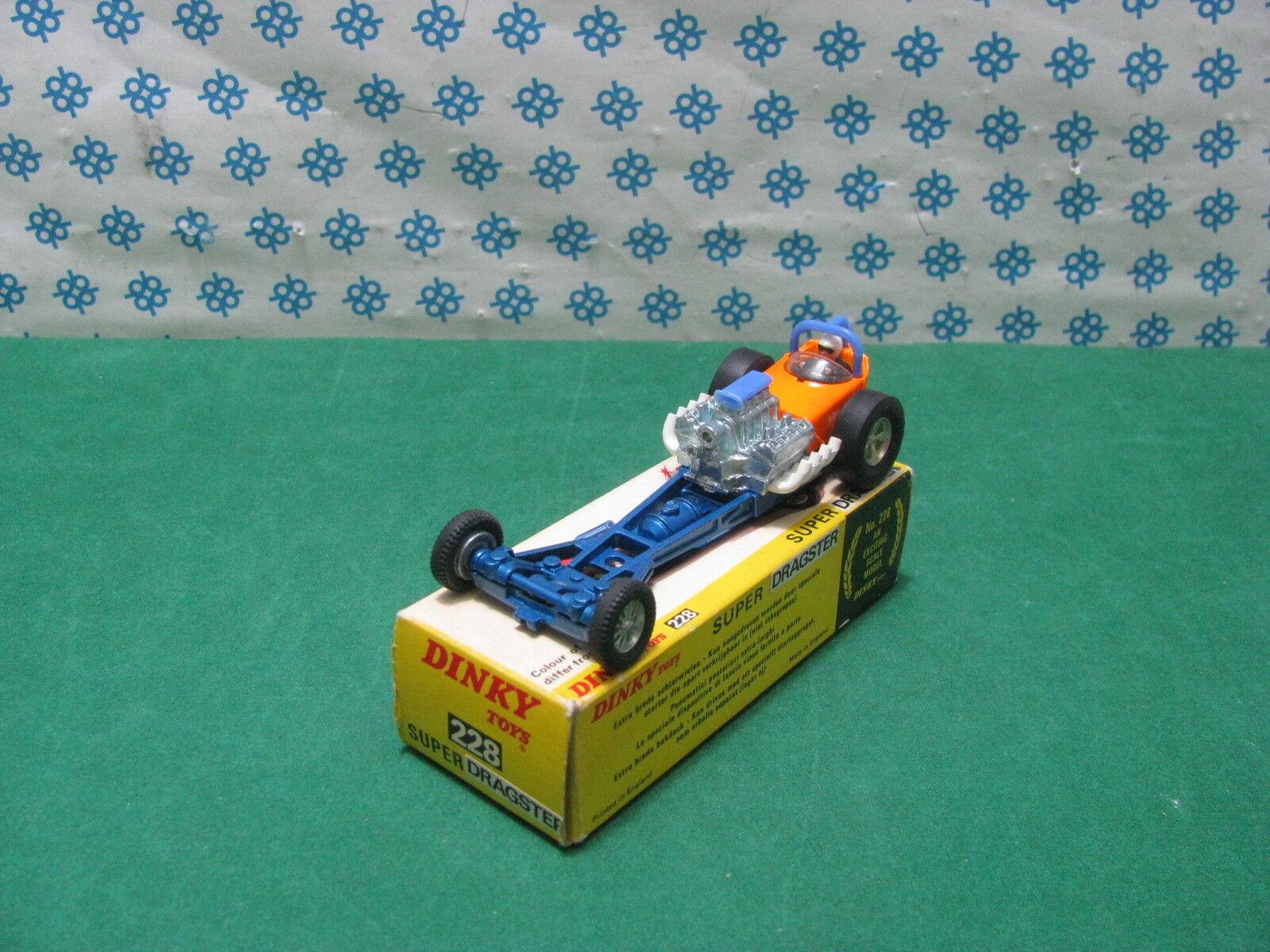 Vintage dinky Toys 228 dragster Super Sprinter V N MIB
