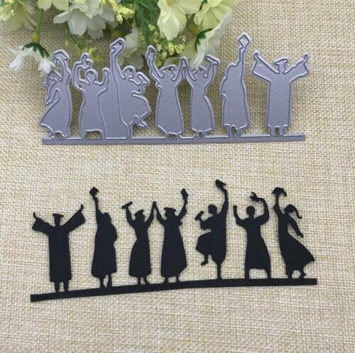 Happy Graduates Metal Cutting Dies Decorative Embossing Paper Cards Stencils
