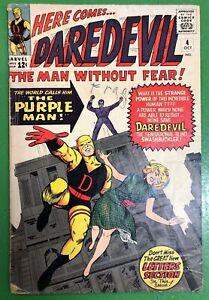 Daredevil-4-1st-Purple-Man-Killgrave-1964-GD-VG-Stan-Lee-Marvel-Comics