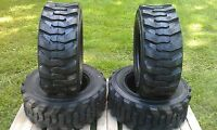 4 12-16.5 Skid Steer Tires - 12 Ply Rating - 12x16.5 - For Bobcat & Others