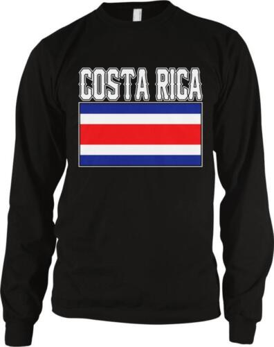 Costa Rica Text Flag Rican Pride Ticos Orgullo Costarricense Long Sleeve Thermal