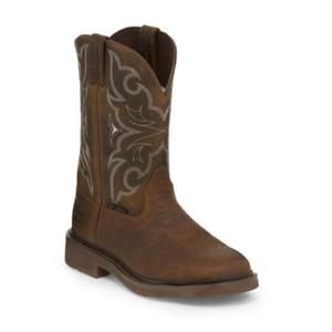 Justin Men S Stampede Western Steel Toe Work Boots Wk4311