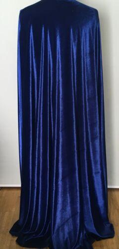 Herren 40//48 Herren Gr 50//56 Damen Kostüm Cape´ blauer Pannsamt Damen Gr