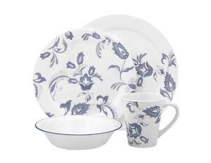 corelle dinner set ebay australia. image is loading 16pc-corelle-provencal-dinnerware-set-blue-french-floral- corelle dinner set ebay australia