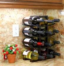 Wood Wine Rack Table Top Bottle Holder Storage Countertop Shelf Liquor Stand Bar