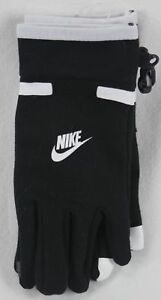 Nike Boys Swoosh Touch Gloves Black White Size 8/20 NWT