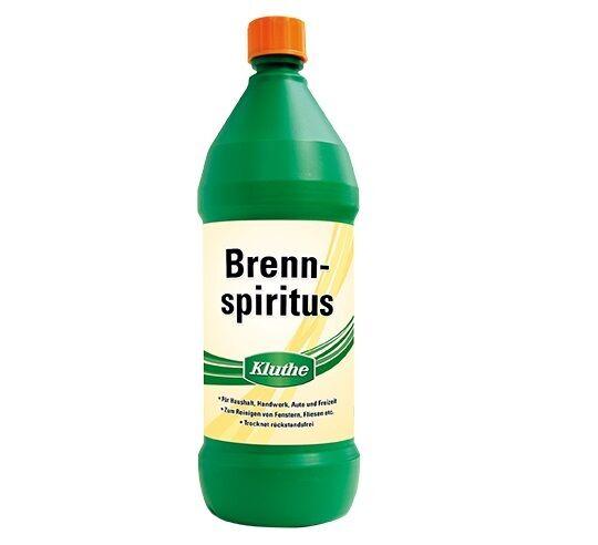 12x Kluthe Brennspiritus 1 L - vielseitiges Lösungs- und Reinigungsmittel -