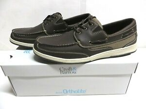 Croft-amp-Barrow-Ortholite-Travis-Brown-Boat-Shoes-Men-039-s-Size-10-5-New-in-Box-70