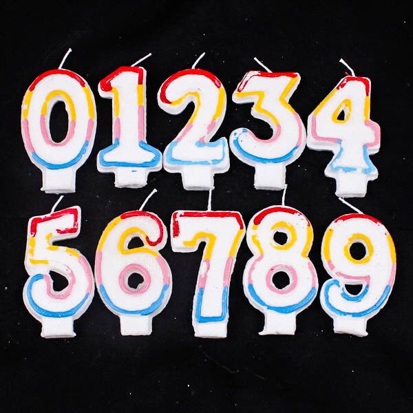 Choice of Happy Birthday Candle Age Number Letter Party Cake Decoration A0119
