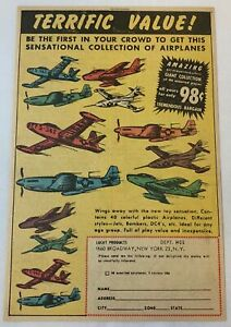 1954 toy soldier airplanes Lucky Products ad page