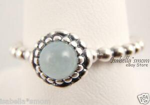 6292460e5 Image is loading MARCH-BIRTHDAY-BLOOMS-Authentic-PANDORA-Silver-Blue- AQUAMARINE-
