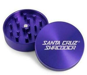 """2 Piece Herb Tobacco Grinder Shredder 2.2/"""" Purple Aluminum Master Cheef"""