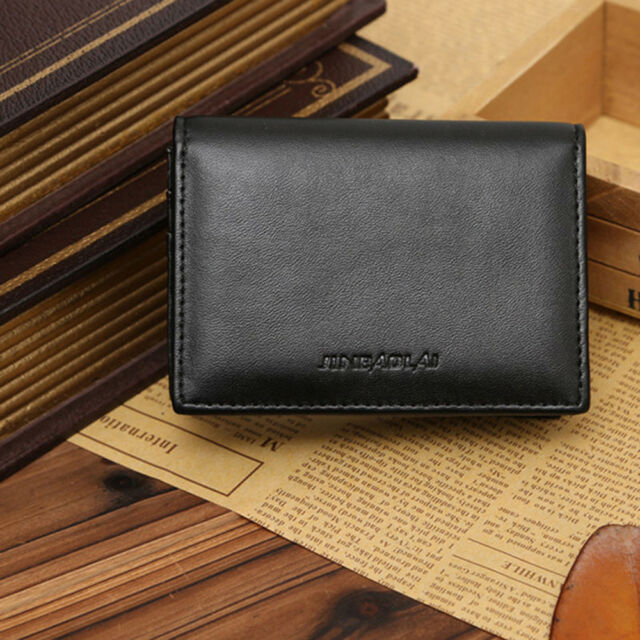 ca9811a0d584 Men's Leather Wallet Bifold Money Clip Credit ID Card Holder Mini Purse New