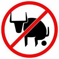 No Bullshit Sign Bull Funny Vinyl Sticker Decal 4 Stickers