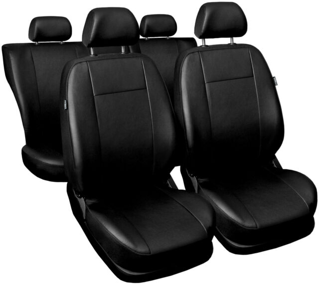 VW Passat GREY Padded Leather Look Car Seat Covers Full Set