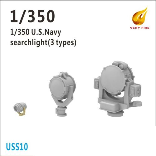 12in x4, 24in x4, 36in x4 Very Fire 1//350 US Battleship Searchlight Set