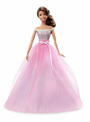 Happy Birthday Wishes Barbie Teresa Hispanic Doll 2017 Collector Pink Label New