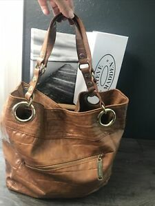 STEVE MADDEN Whiskey Faux Leather X-Large Lined Handbag PreOwned VGUC
