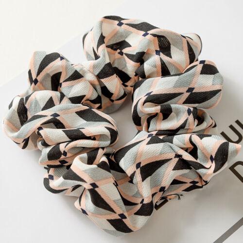 BOHO Women Lattice Hair Scrunchie Ponytail Holder Hair Ties Elastic Hair Bands