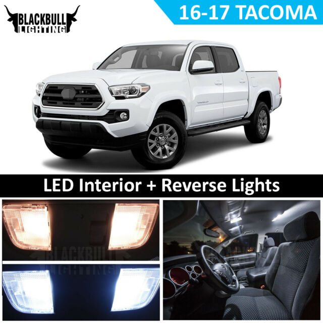 White Led Interior Reverse Lights Package Fits 16 18 Toyota Tacoma 11 Bulbs