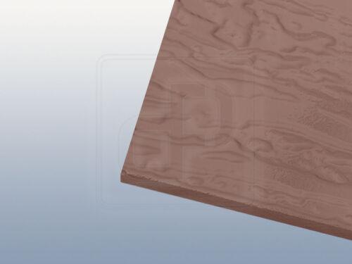 Strukturiertes Acrylglas Baumrinde 6 mm bronze