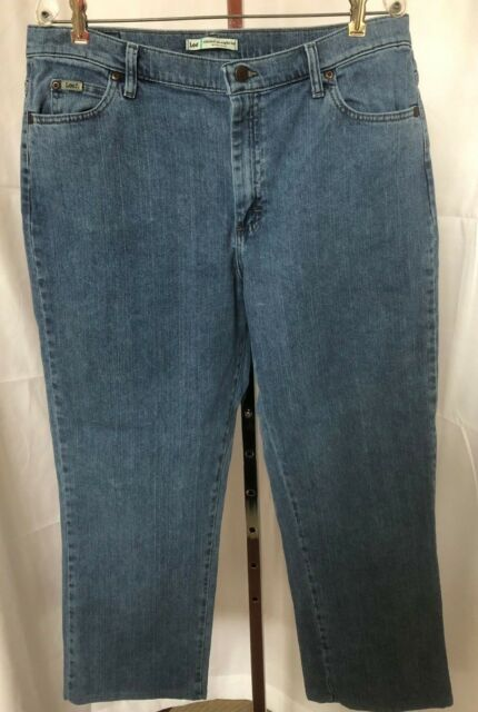 9d957aab Lee Women's Relaxed Fit Straight Leg Blue Jeans Size 18 (36 x 28) | eBay